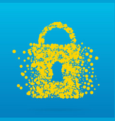 Abstract creative concept icon of padlock vector