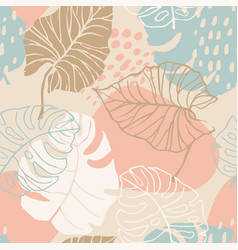 Abstract creative seamless pattern with tropical vector