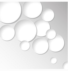 abstract paper circles sticker isolated on vector image