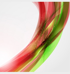 Abstract red and green wave background for poster vector