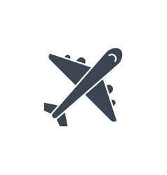 airplane related glyph icon vector image
