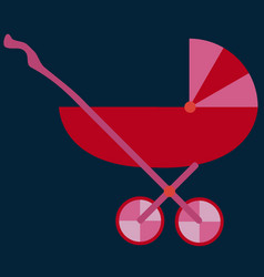 baby carriage stroller red babys pram vector image