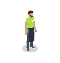 barmen waiter or barista profession representative vector image