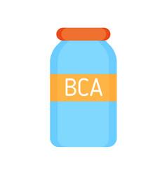 Bca vitamins for sportsmen vector