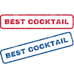 Best Cocktail Rubber Stamps vector
