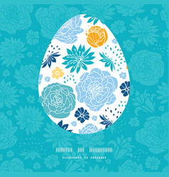 blue and yellow flowersilhouettes Easter vector image
