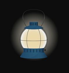 Blue gas lamp vector