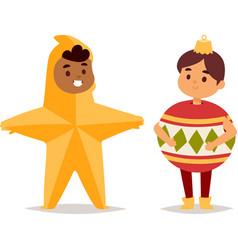 Carnival costume kid vector