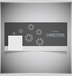 Chrismtas social media cover with dark pattern vector
