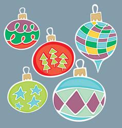 Christmas globes vector