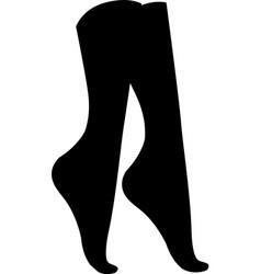 concept of women socks vector image