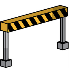 construction barrier isometric icon vector image