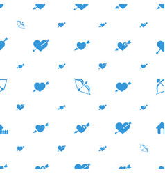 Cupid icons pattern seamless white background vector