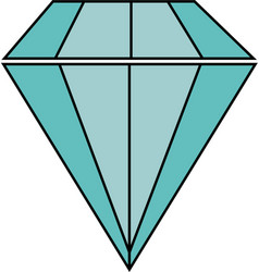 diamond gem isolated icon vector image