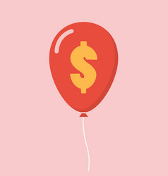 Dollar sign balloon vector