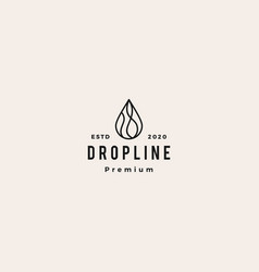 Drop logo icon sign hipster vintage retro vector