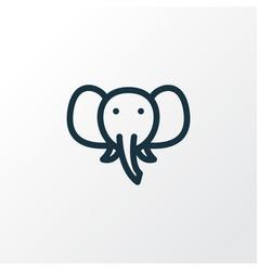 elephant icon line symbol premium quality vector image