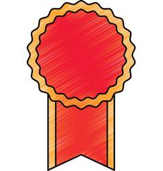 empty award ribbon vector image