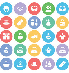 Fashion Colored Icons 9 vector