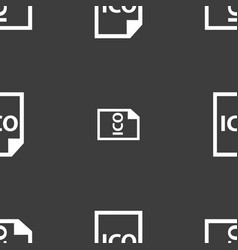 File ico icon sign seamless pattern on a gray vector