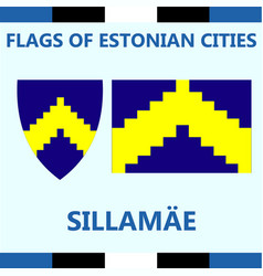 Flag of estonian city sillamae vector