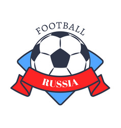 football in russia logo color vector image