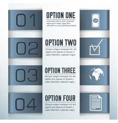 four steps composition vector image