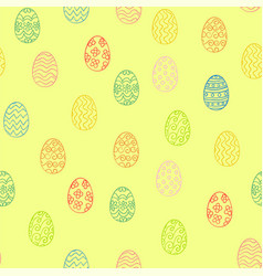 Golden easter eggs pattern vector