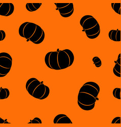 halloween orange background with pumpkins vector image
