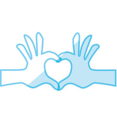 hands heart shape vector image