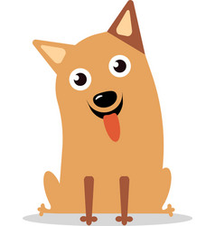 happy curious dog vector image