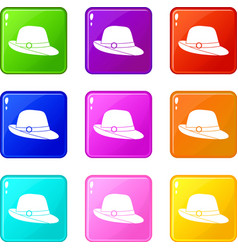 Hat set 9 vector