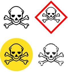 hazard poison toxic sign icon radiation vector image