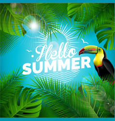 hello summer holiday typographic vector image