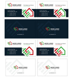 Housetop business card 1 vector