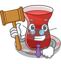 Judge tea turkish on the with mascot vector