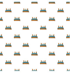 King size bed pattern seamless vector