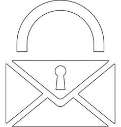 Lock flat icon vector
