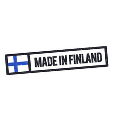 made in finland stamp with grunge effect vector image