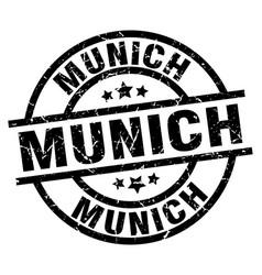 Munich black round grunge stamp vector