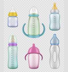 nutritional kids bottles measuring containers vector image