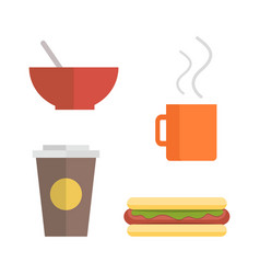 Office Lunch Set vector image