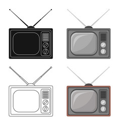 old tvold age single icon in cartoon style vector image