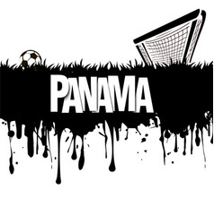 Panama with a soccer ball and gate vector