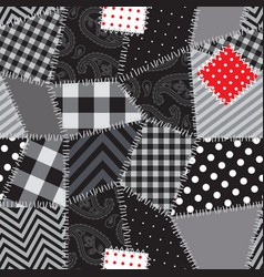 Patchwork seamless background vector