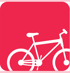 picture bicycle transportation image vector image