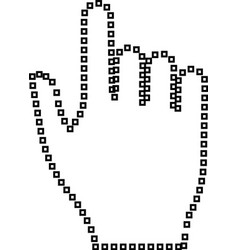 pixel hand it is black icon vector image vector image