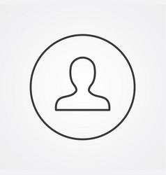 profile outline symbol dark on white background vector image
