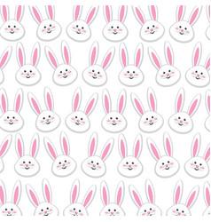 Rabbit easter background decoration design vector