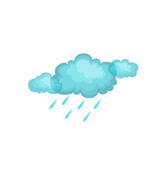 Rain And Cloud As Autumn Attribute vector image